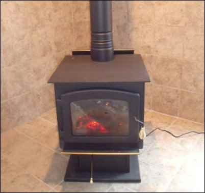The installation of the woodstove was quite a project for my wife and I. We  (that means she) picked out the porcelain tile that would match the décor  of our ... - The Homestead Woodstove